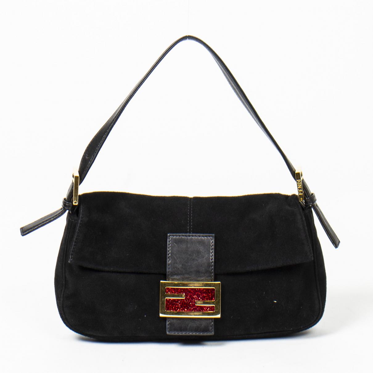 Fendi Baguette Handtasche in  Schwarz Leder