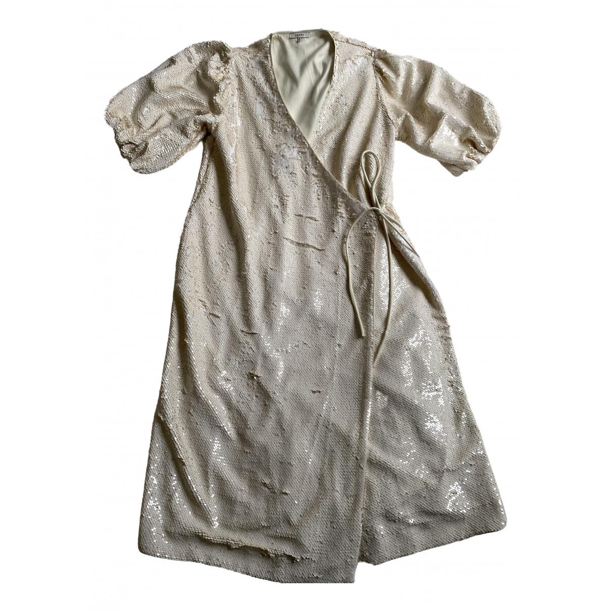 Ganni - Robe Spring Summer 2019 pour femme - blanc