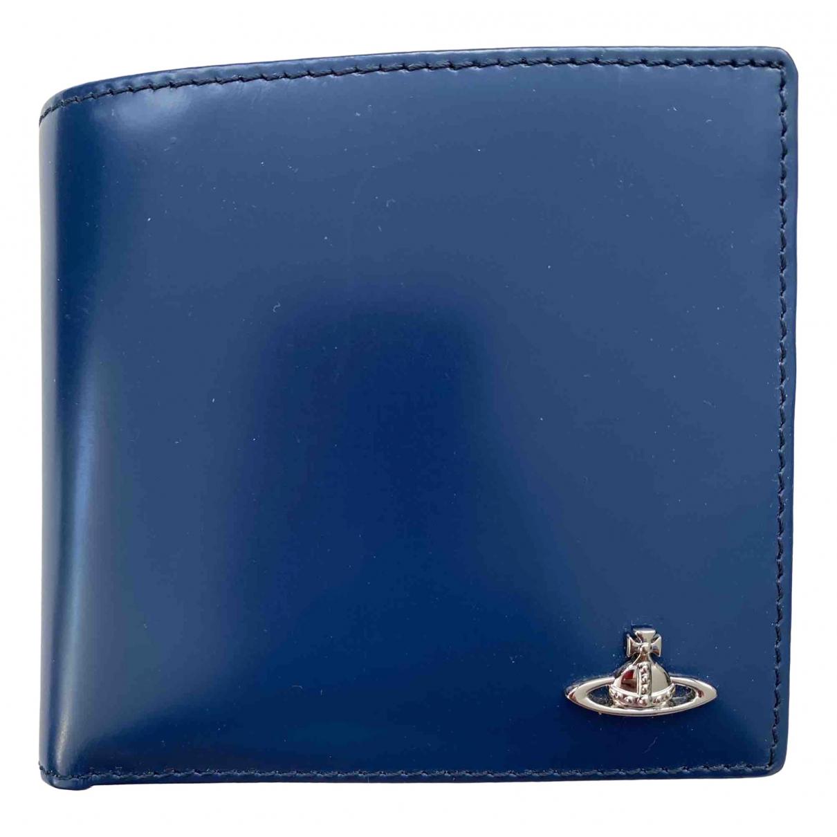 Vivienne Westwood \N Kleinlederwaren in  Blau Leder
