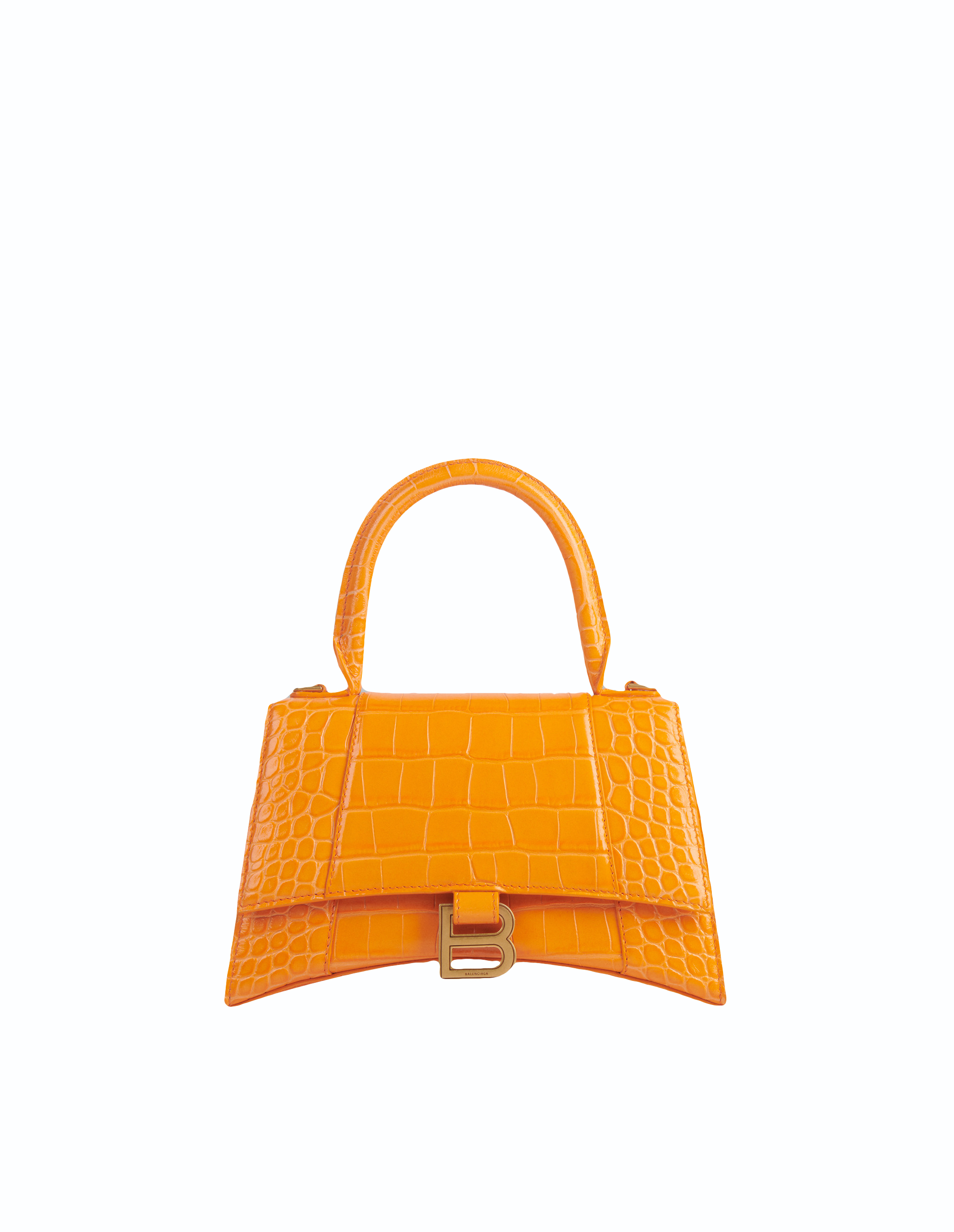 Balenciaga Orange Small Hourglass Top Handle Bag