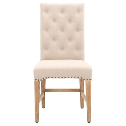 6027.SW/NAT Wilshire Collection 6027.Sw/Nat Set Of 2 Dining Chairs In Natural Fabric And Stone