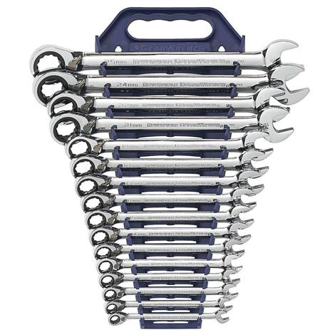 GearWrench Ratcheting Wrench Set 16 pc. Metric Reversible Combination