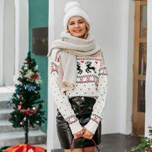 Drop Shoulder Ugly Christmas Sweater