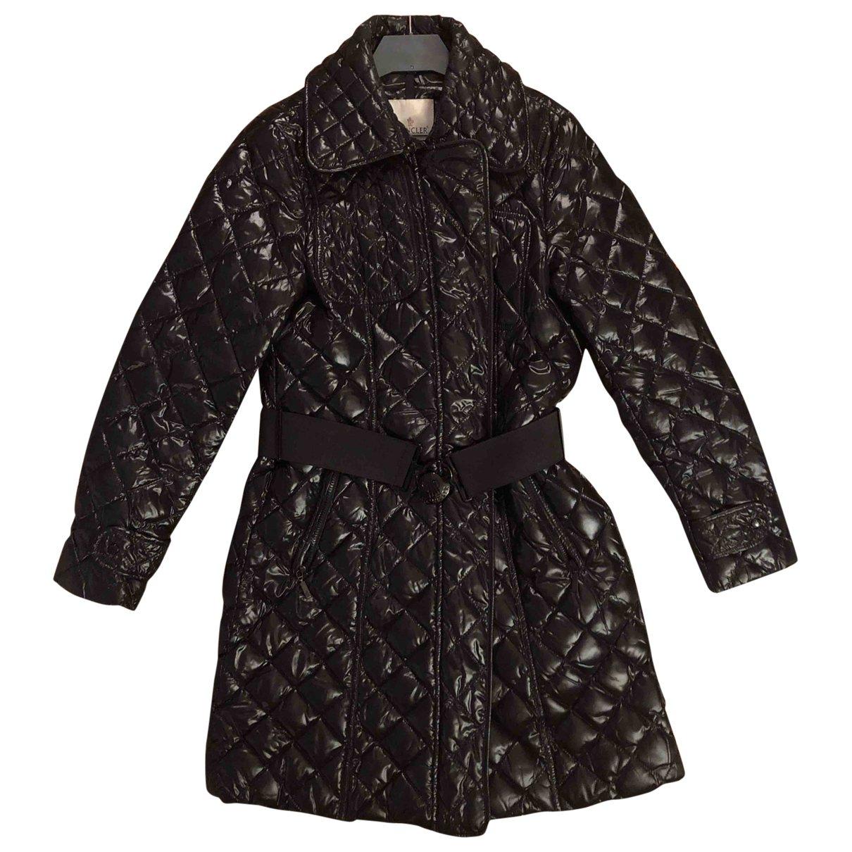 Moncler Long Jacke in  Schwarz Synthetik