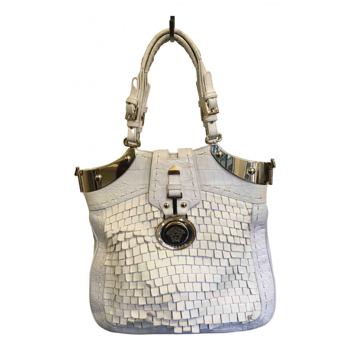 Versace N White Leather handbag for Women N
