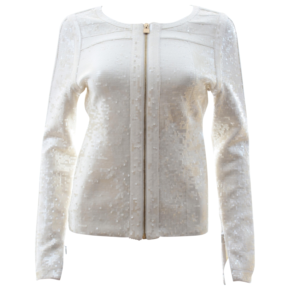 Herve Leger \N Ecru Glitter jacket for Women M International