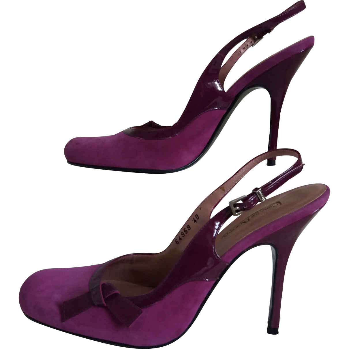 Cesare Paciotti \N Purple Suede Heels for Women 40 EU