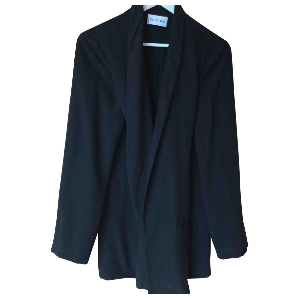 Emilio Pucci - Veste   pour femme en soie - noir
