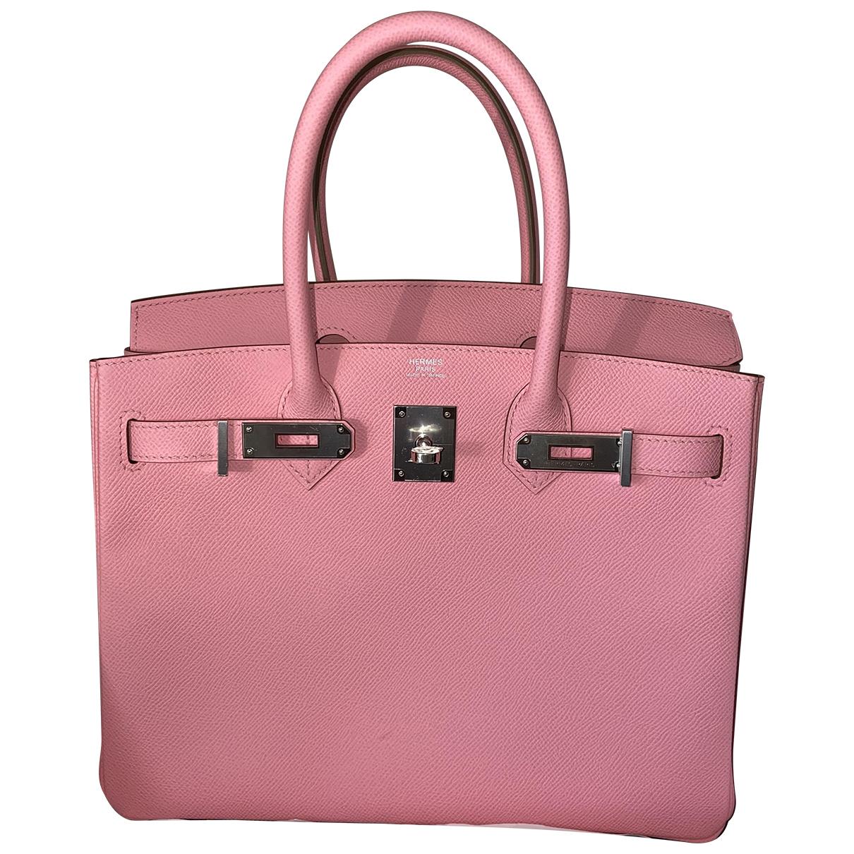 Hermès Birkin 30 Pink Leather handbag for Women N