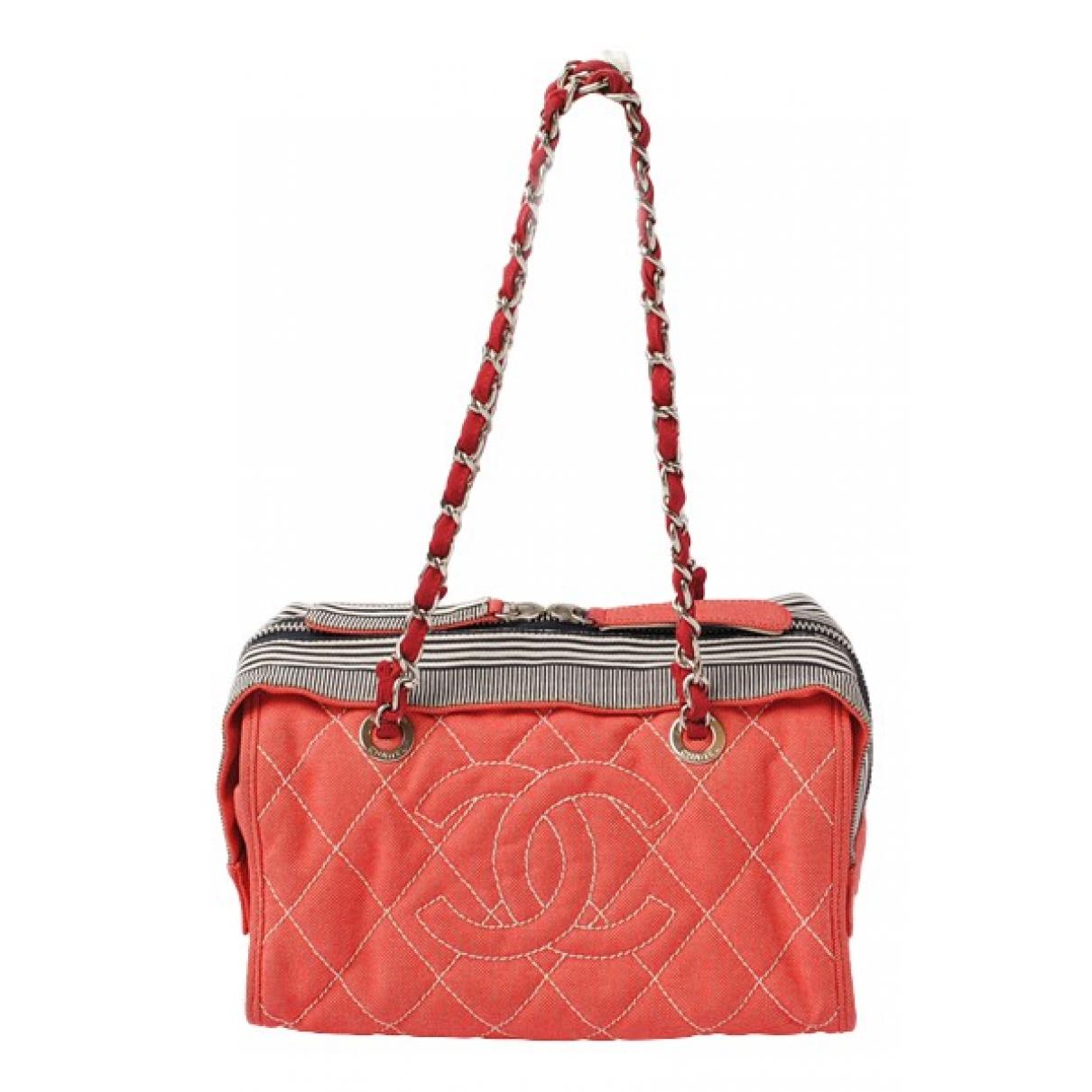 Chanel \N Red Denim - Jeans handbag for Women \N