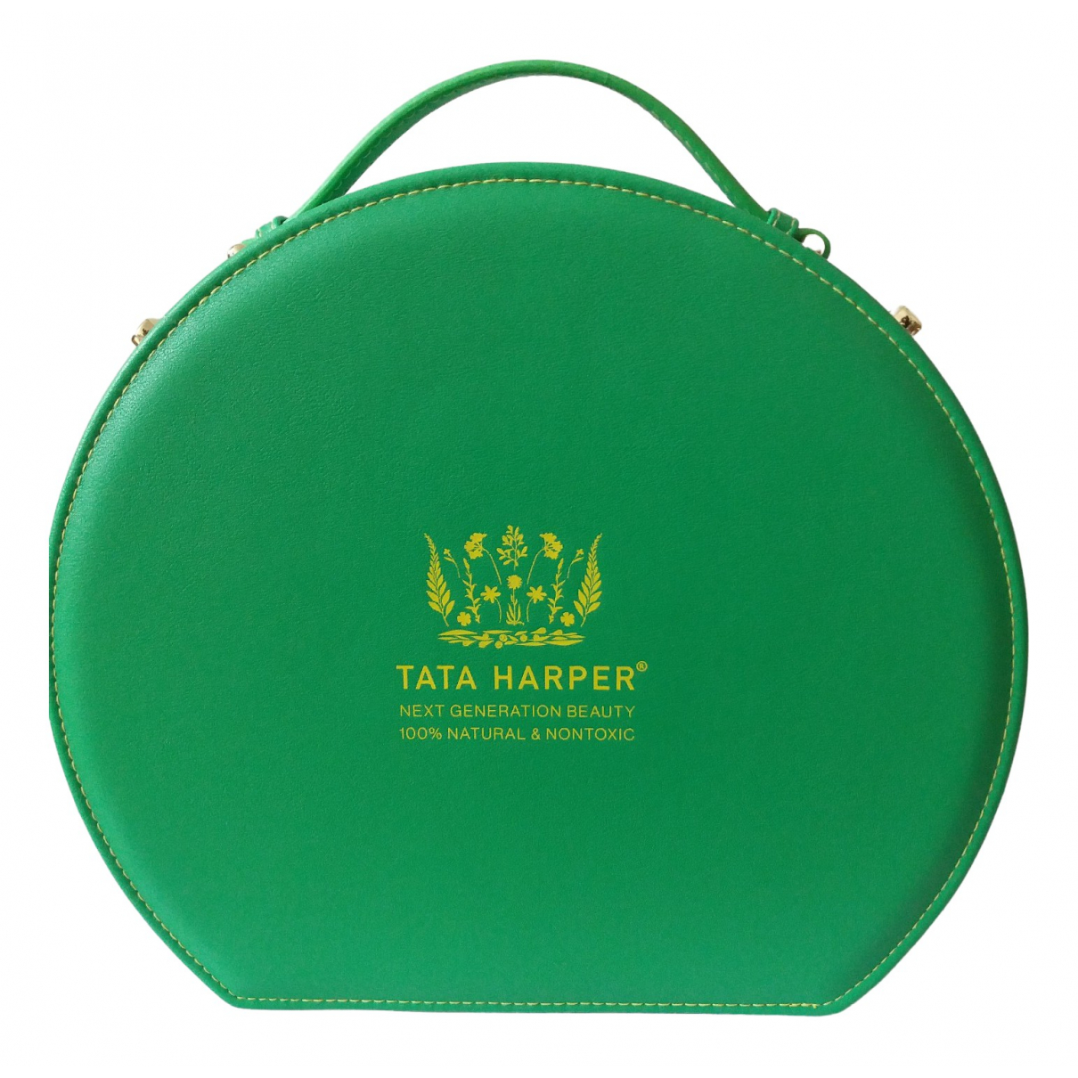 Non Signé / Unsigned \N Green Leather Purses, wallet & cases for Women \N