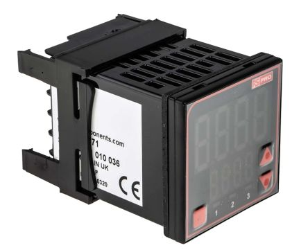 RS PRO Panel Mount PID Temperature Controller, 48 x 48mm, 3 Output Relay, SSR, 110  240 V ac Supply Voltage