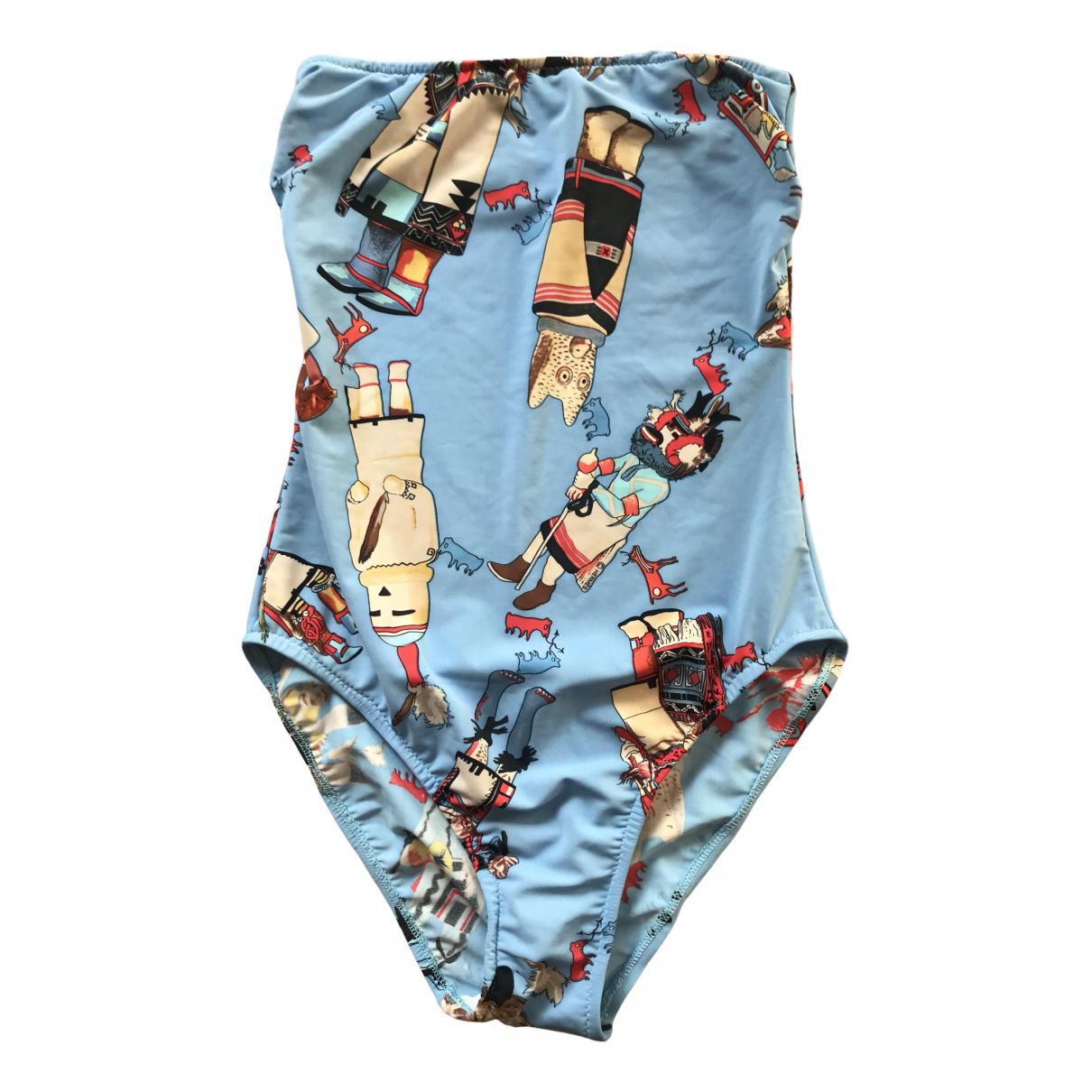 Hermes \N Badeanzug in  Blau Polyester
