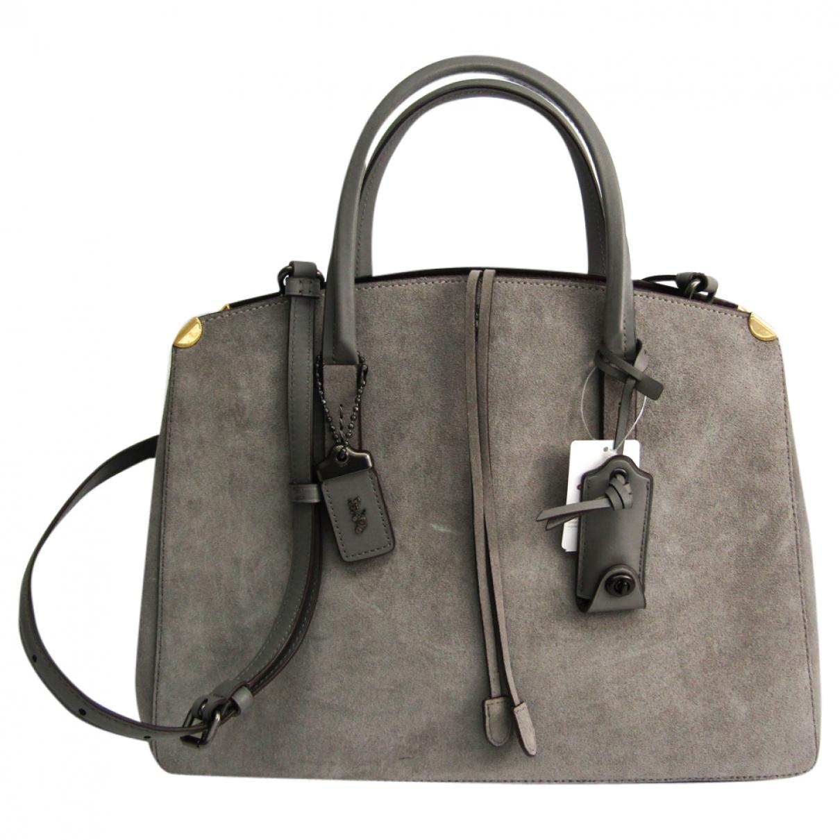Coach \N Grey Suede handbag for Women \N