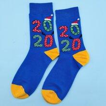 Christmas Color Block Socks