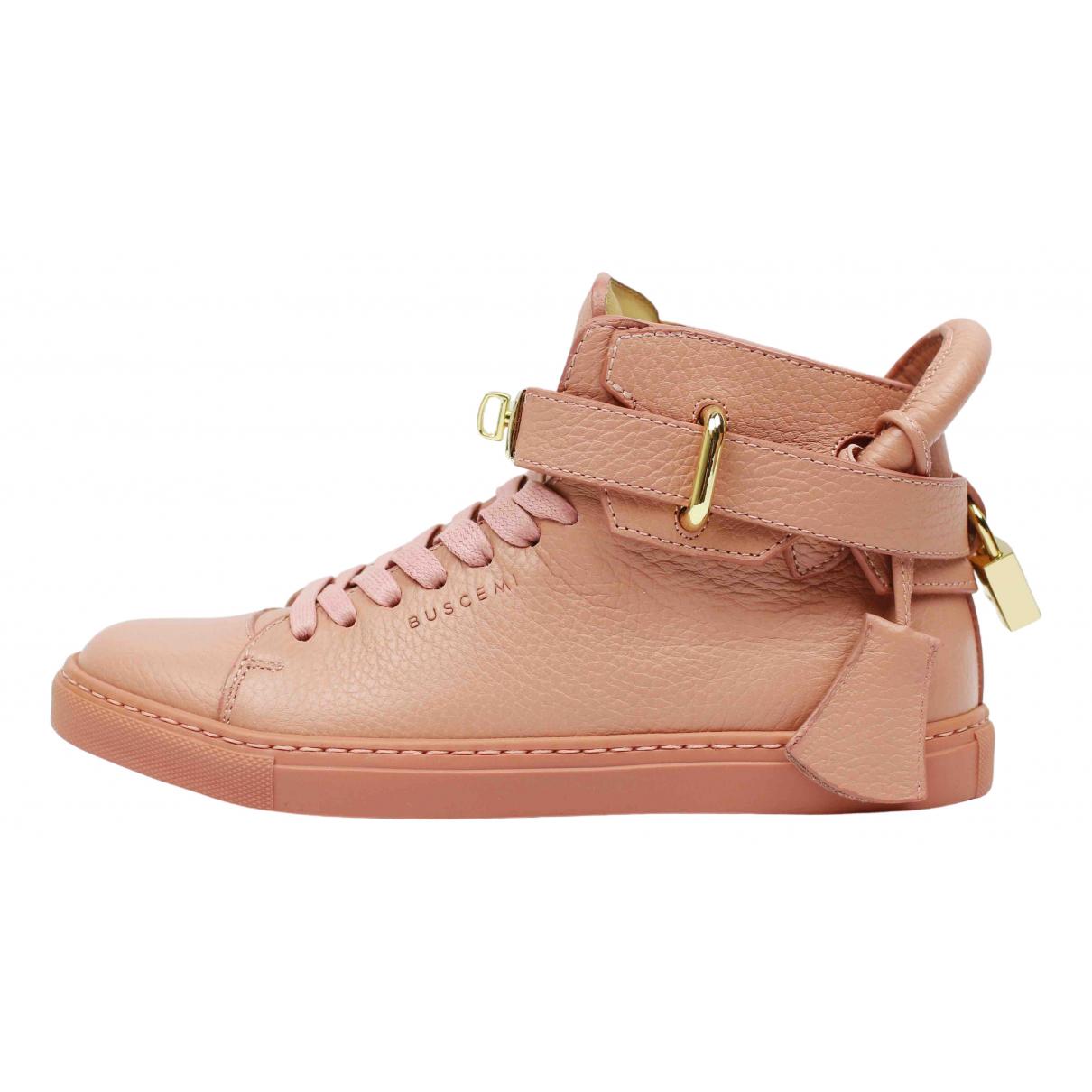 Buscemi \N Sneakers in  Rosa Leder