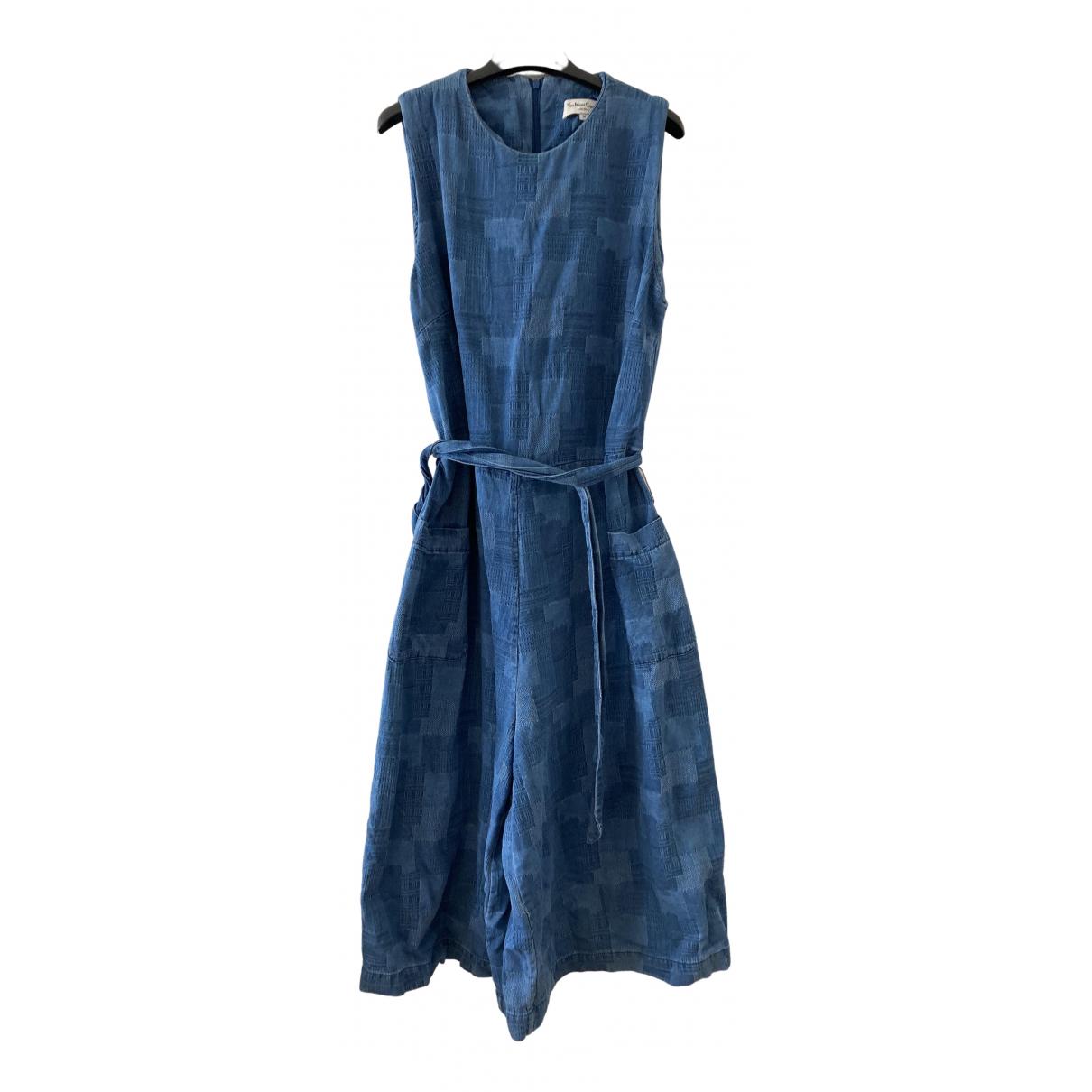 Ymc - Combinaison   pour femme en denim - bleu