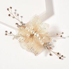 Haarspangen mit Kunstperlen Dekor
