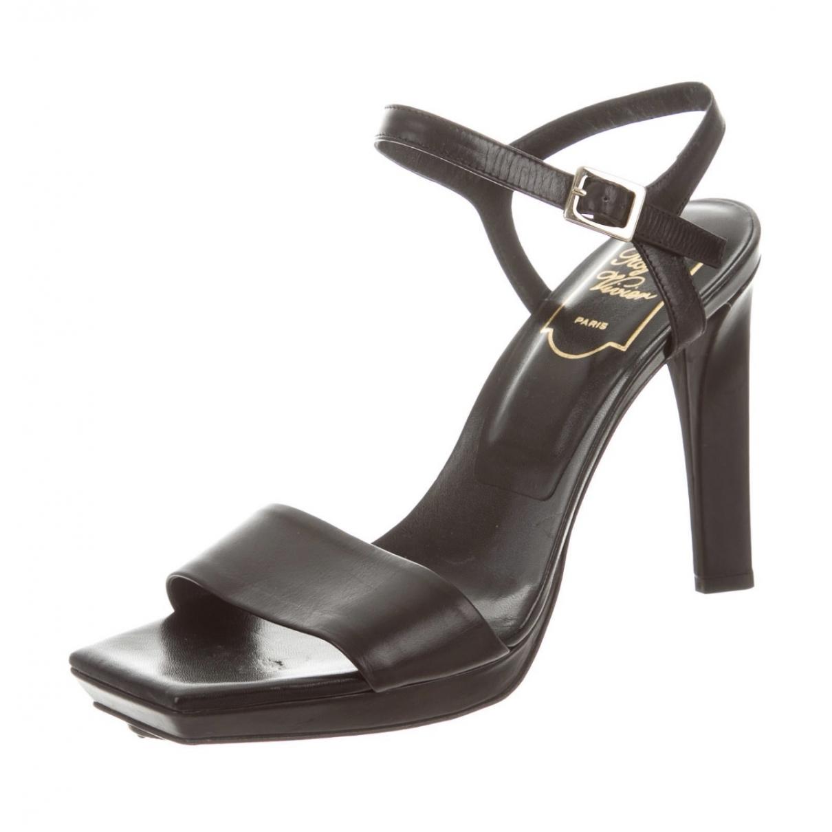Roger Vivier - Sandales   pour femme en cuir - noir