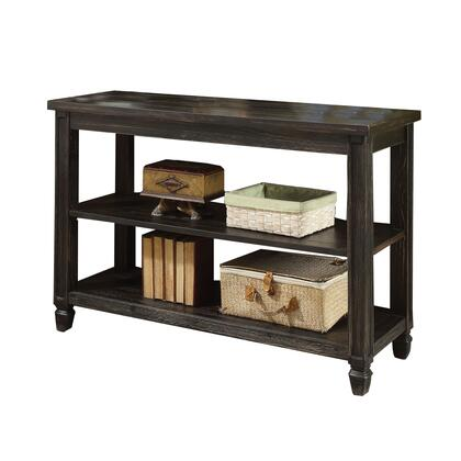 BM208135 Plank Top Sofa Table with Two Open Bottom Shelves  Antique