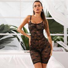 Floral Lace Romper Bodysuit