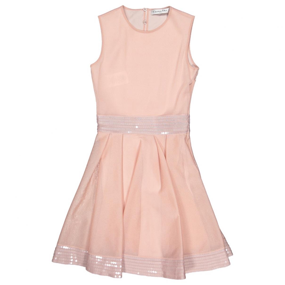 Christian Dior \N Kleid in  Rosa Seide