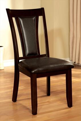 Brent Collection CM3984DK-SC-2PK Set of 2 Modern Style Side Chair with Padded Leatherette Seat & Back in Dark Cherry