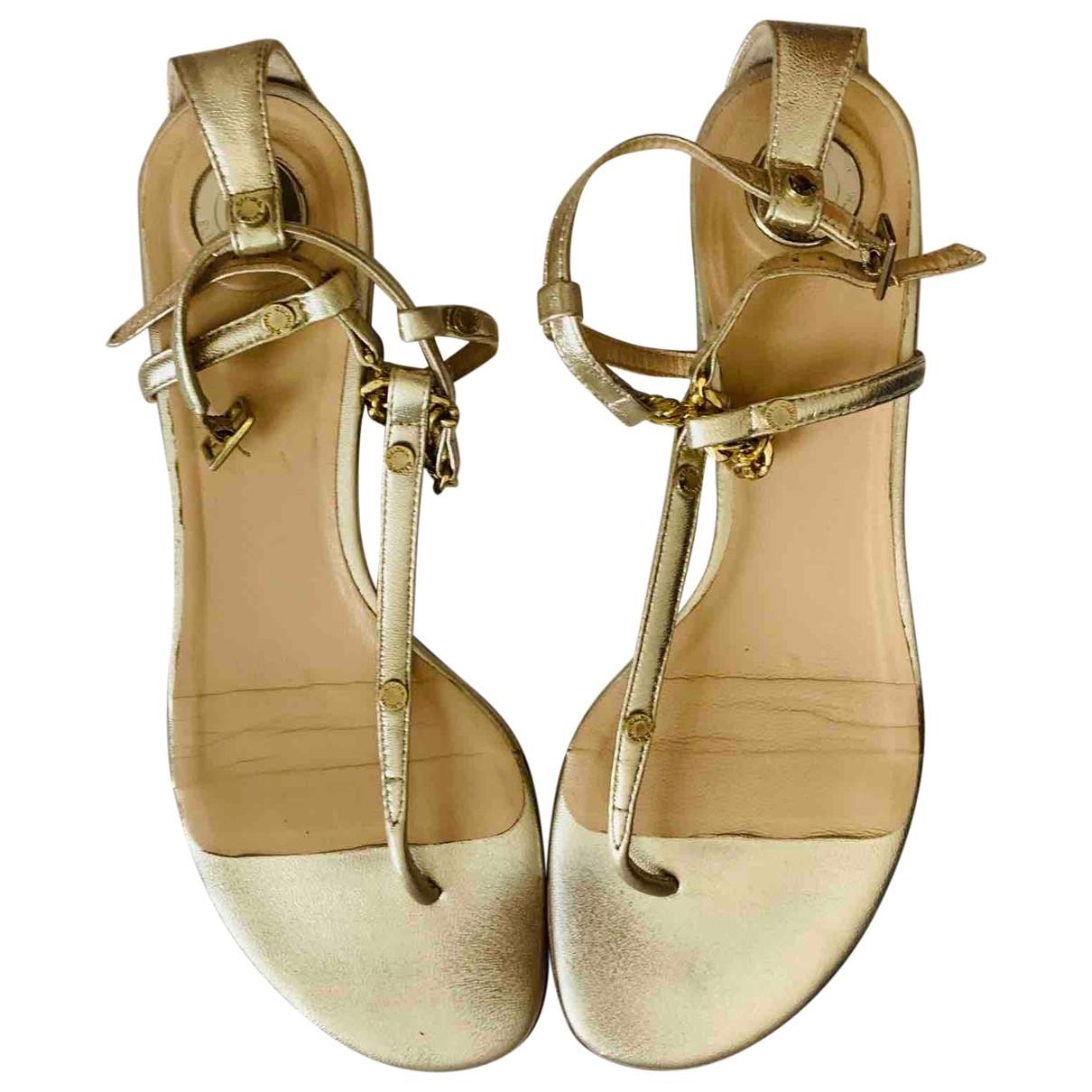 Elisabetta Franchi \N Sandalen in  Gold Leder