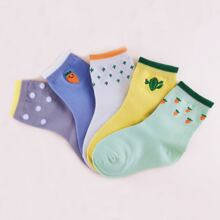 5pairs Kids Cartoon Graphic Ankle Socks