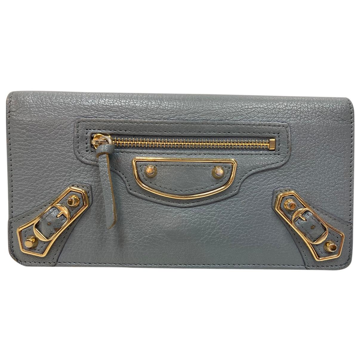 Balenciaga \N Grey Leather wallet for Women \N