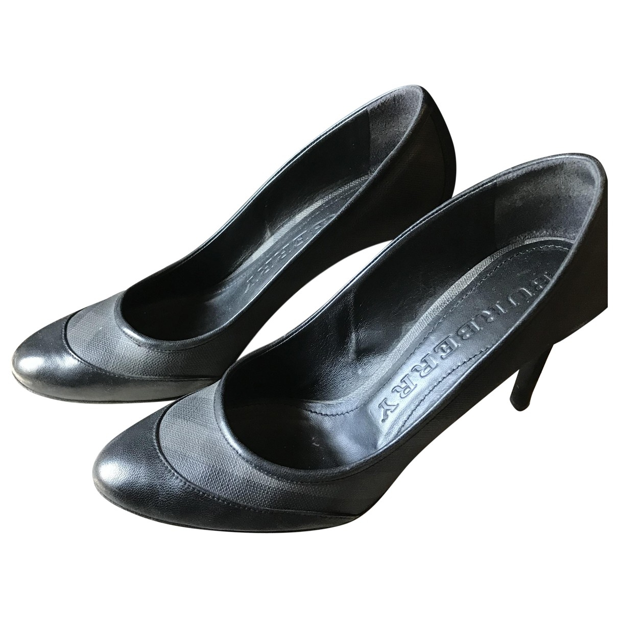 Burberry \N Black Leather Heels for Women 39 EU