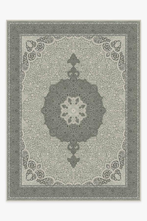 Washable Rug Cover & Pad | Tisa Sage Rug | Stain-Resistant | Ruggable | 9'x12'