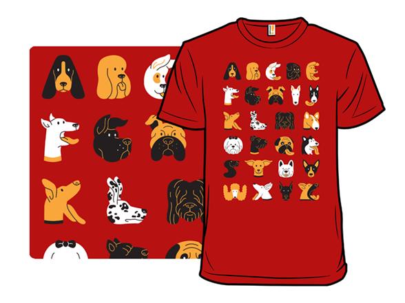 Dog Typeface T Shirt