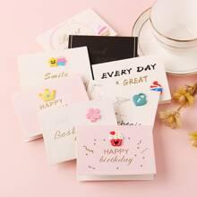 10 piezas carta de saludo con slogan