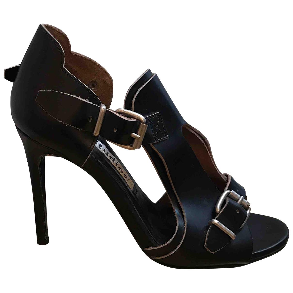 Acne Studios - Sandales   pour femme en cuir - noir