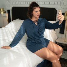 Conjunto de pijama con cordon unicolor
