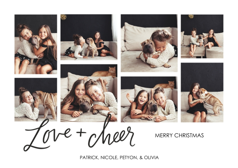 Christmas Photo Cards Flat Glossy Photo Paper Cards with Envelopes, 5x7, Card & Stationery -Minimalist