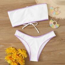 Sets de bikini Lazada Liso Blanco Bohemio