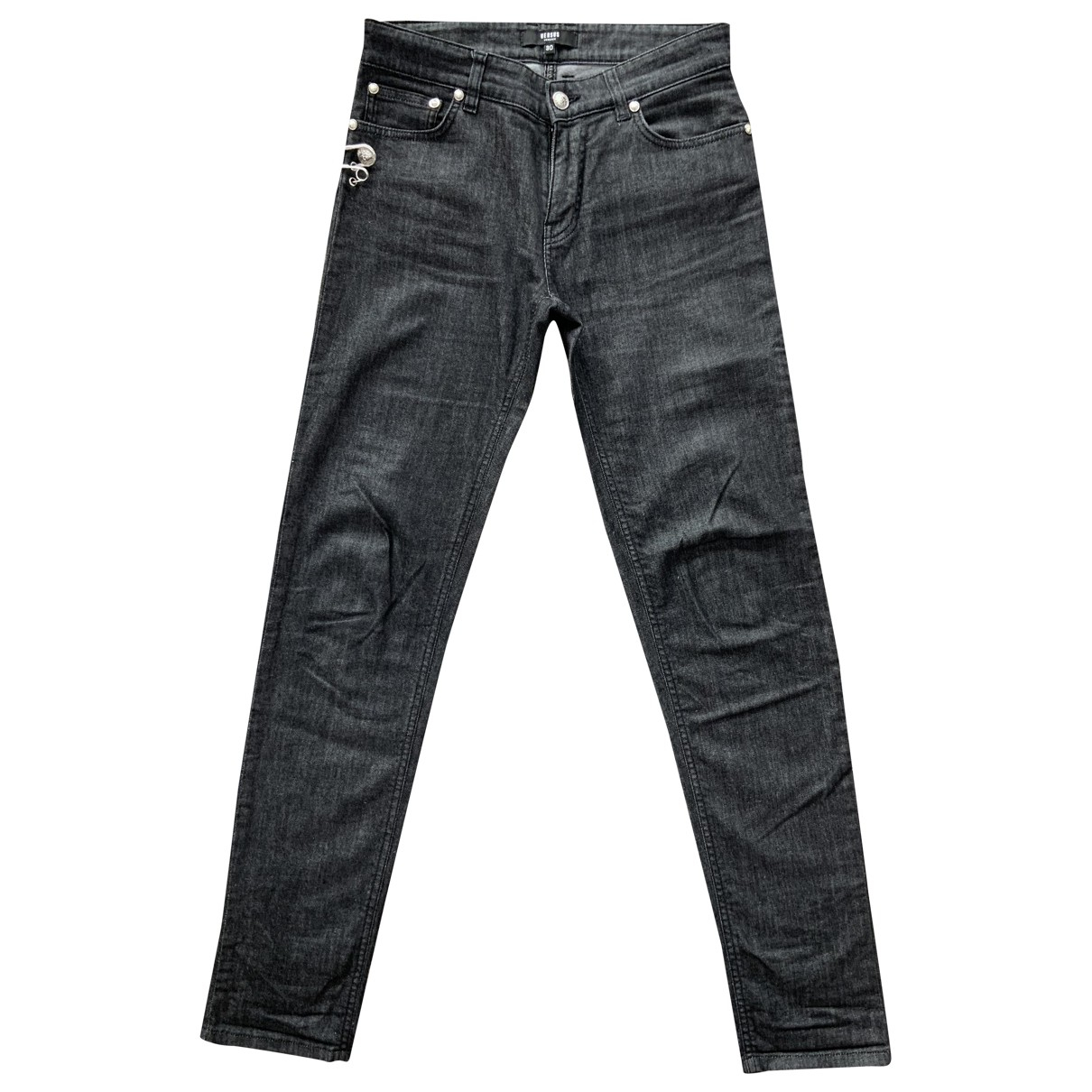 Versus \N Grey Cotton - elasthane Jeans for Men 30 US