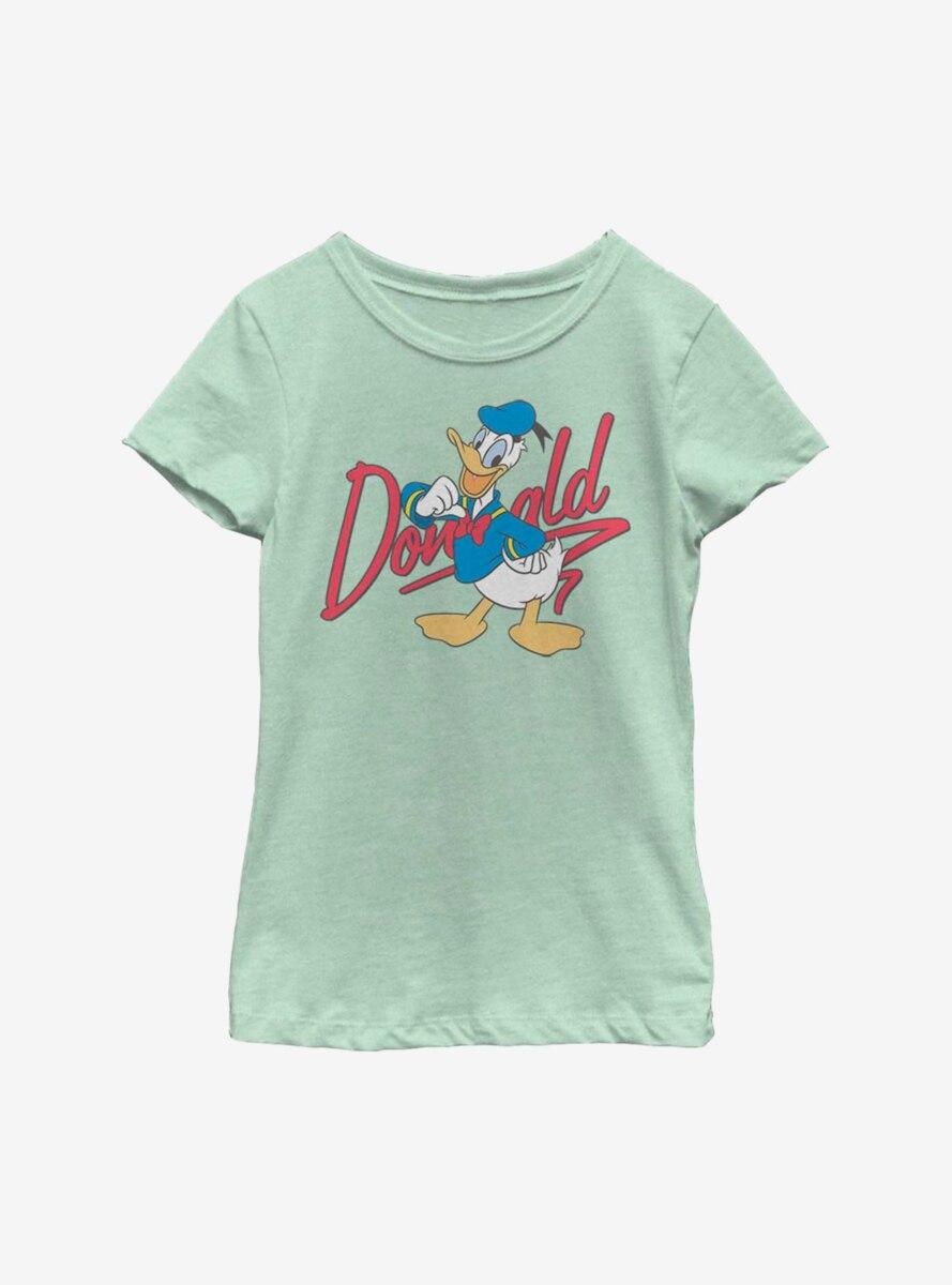 Disney Donald Duck Autograph Youth Girls T-Shirt