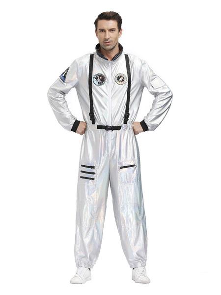 Milanoo Halloween Astronaut Costumes Men Jumpsuit