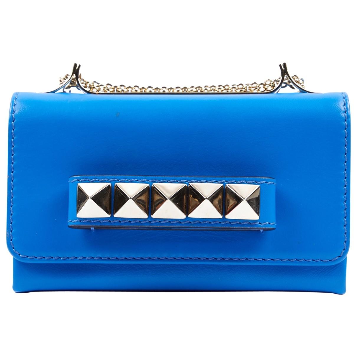Valentino Garavani - Sac a main Vavavoom pour femme en cuir - bleu