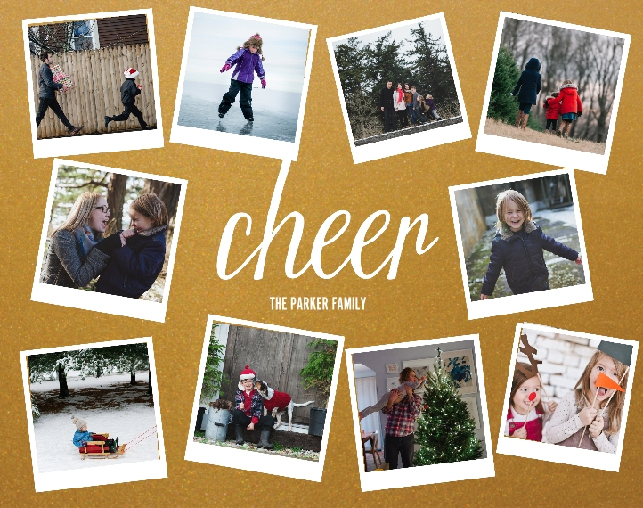 Holiday 11x14 Metal Panels, Home Décor -Cheer Snapshots