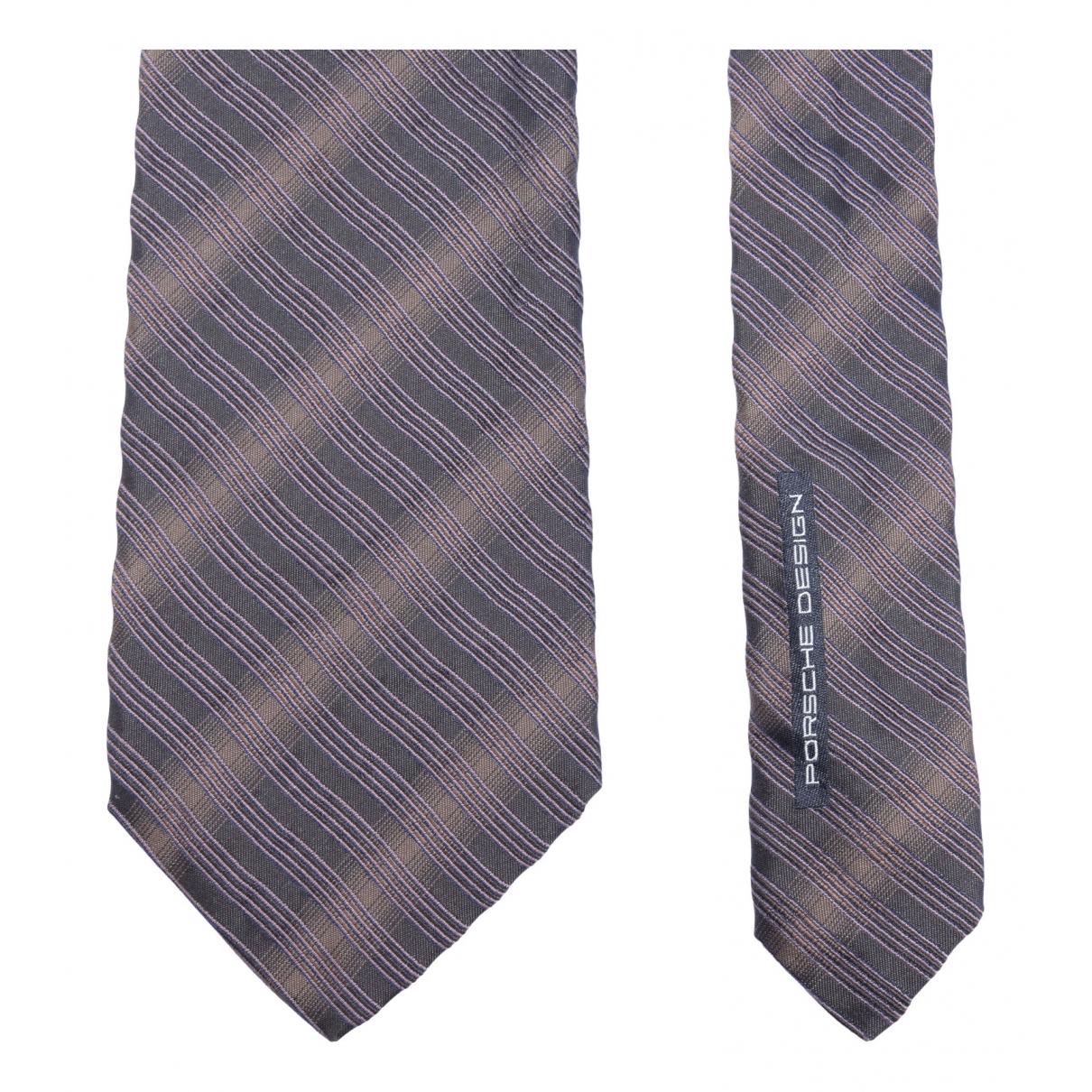 Porsche Design - Cravates   pour homme en soie - marron