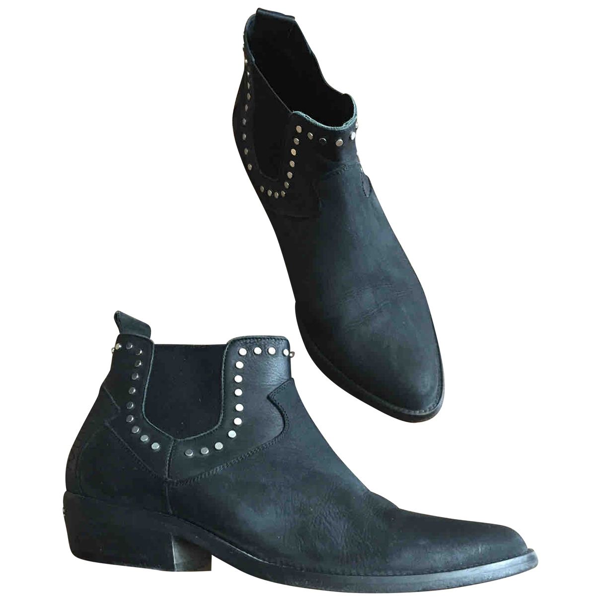 Zadig & Voltaire \N Black Leather Boots for Women 40 EU