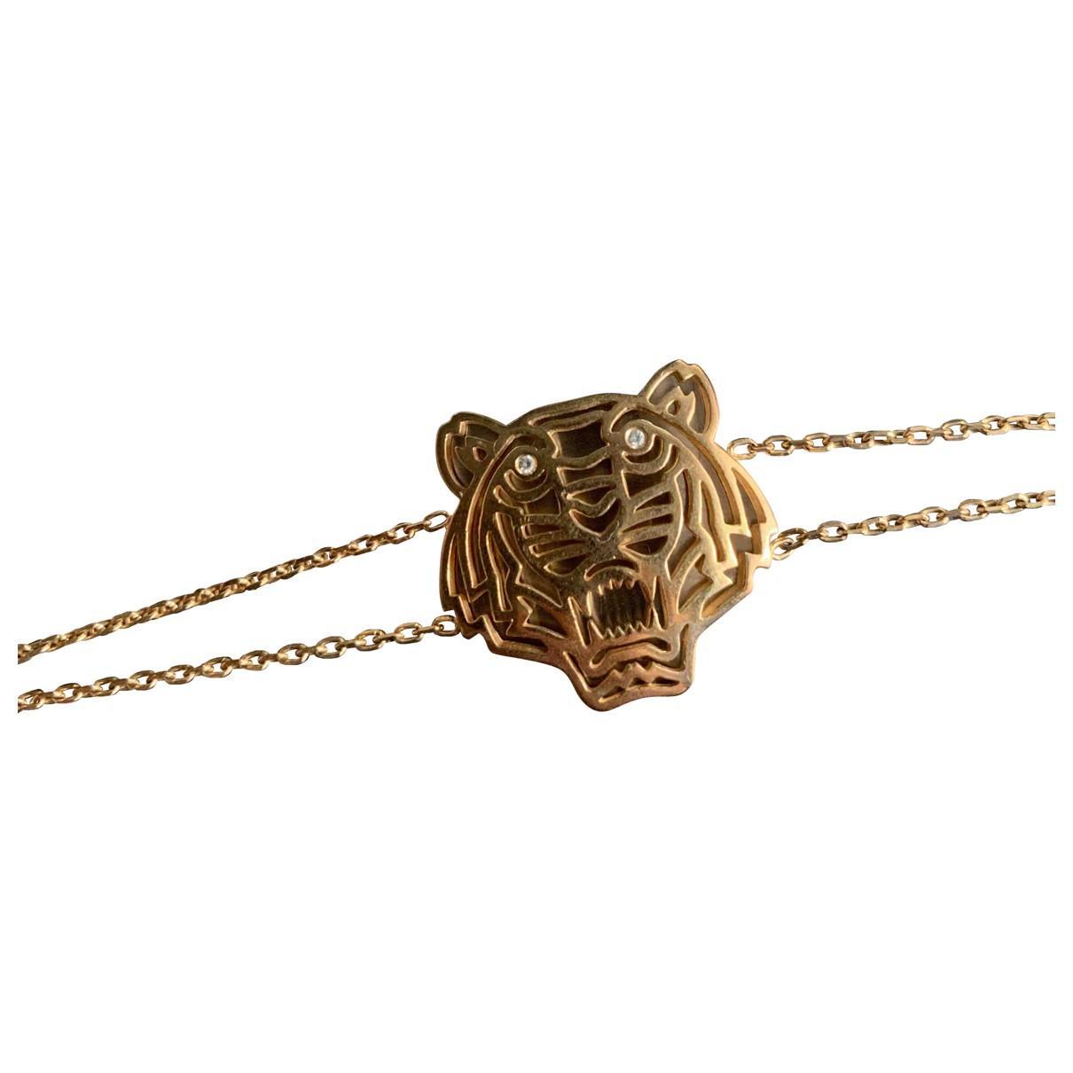 Kenzo - Bracelet Tigre pour femme en metal - dore