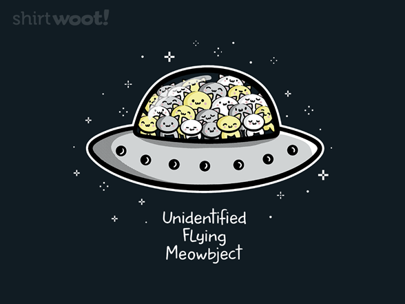 Unidentified Flying Meowbject T Shirt