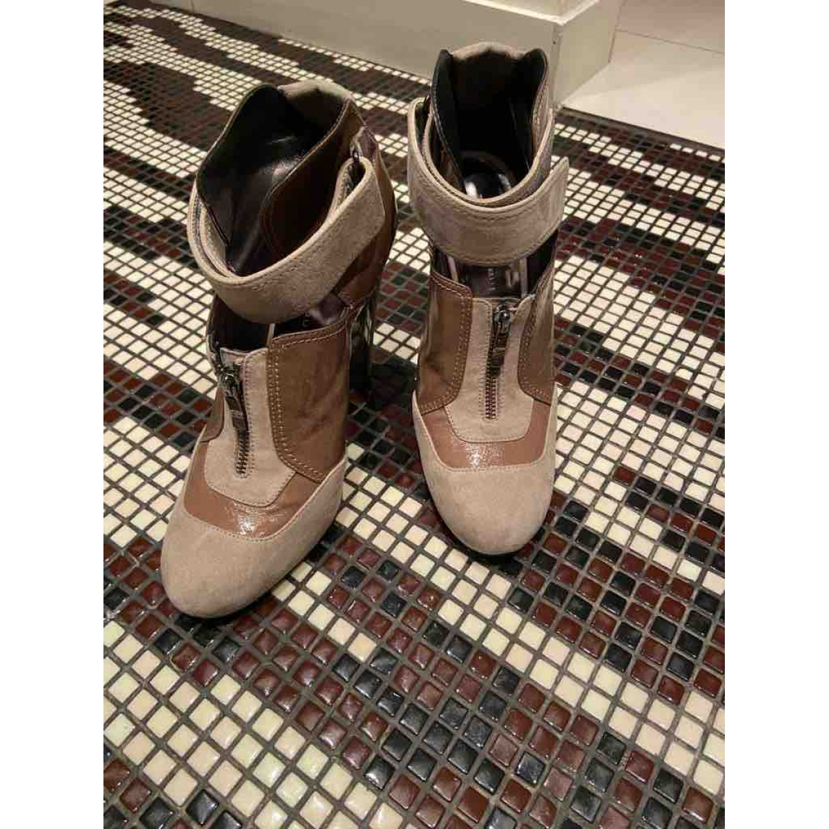 Barbara Bui \N Leather Ankle boots for Women 40 EU