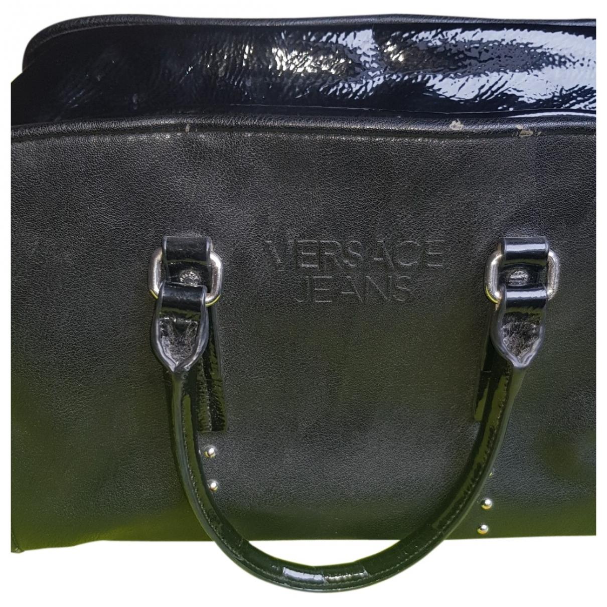 Versace Jean - Sac a main   pour femme en cuir - noir