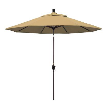 GSPT908117-F67 9' Pacific Trail Series Patio Umbrella With Bronze Aluminum Pole Aluminum Ribs Push Button Tilt Crank Lift With Olefin Champagne